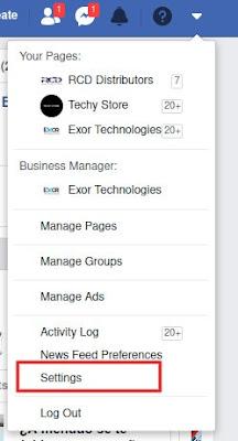 seleccionar configuración para borrar un facebook