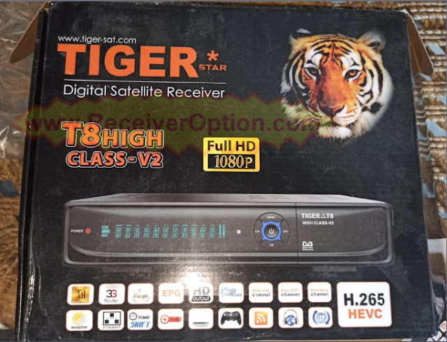 TIGER T8 HIGH CLASS V2 V3.87 NEW SOFTWARE WITH UPDATE EPG PRO
