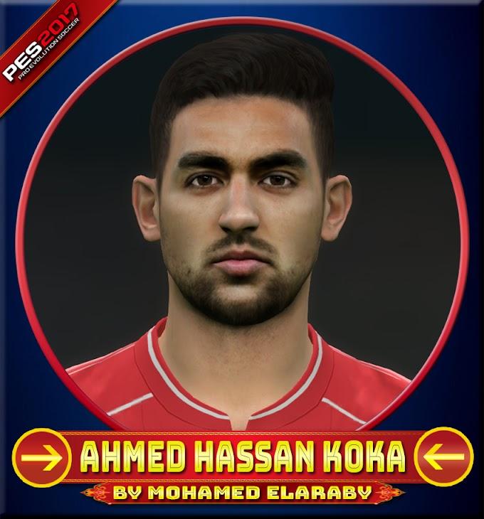 Ahmed Hassan Koka Face Olympiacos Piraeus FC Player - PES 2017