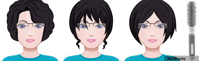 23mm or 3/4 to 1 = short hair, above chin