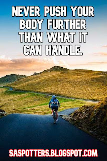 Never push your body further than what it can handle.