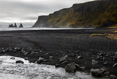 Vik is known for black sand beaches and pretty good restaurants