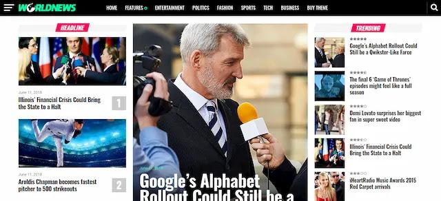 تحميل قالب World News لمدونات بلوجر الإخبارية