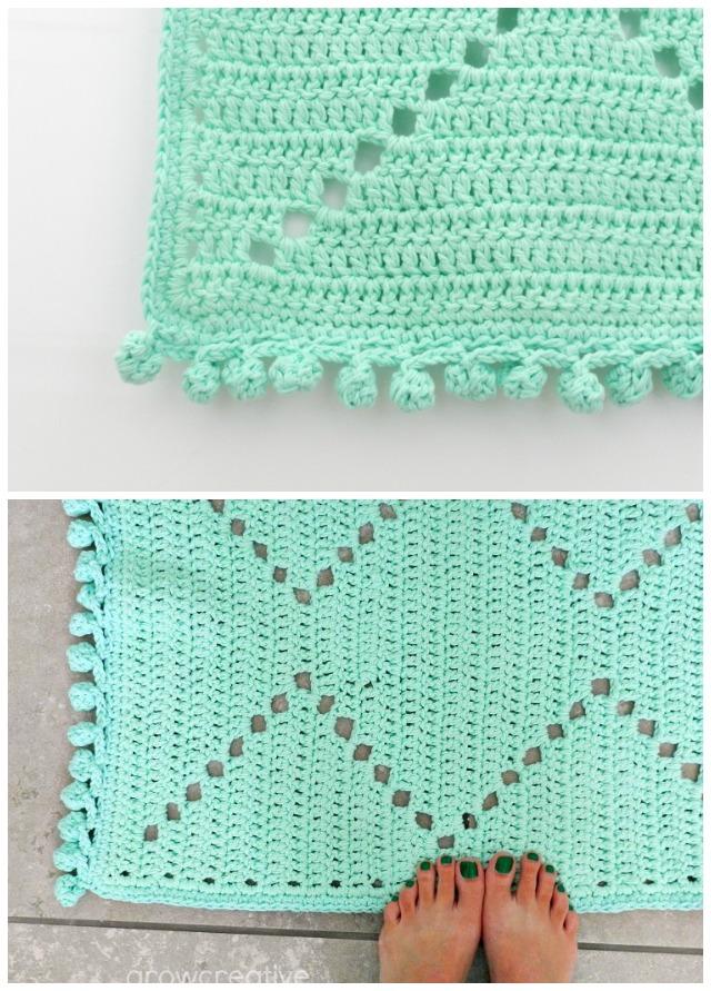 Crochet Aztec Rug: free crochet pattern by Elise Engh Studios