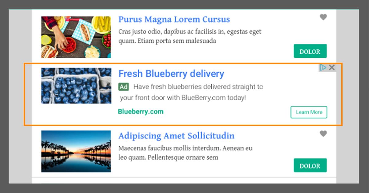شروط الحصول على الإعلانات المدمجة مع المحتوى الخاصة بجوجل أدسنس