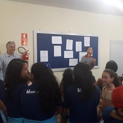 Câmara de Monteiro recebe alunos da rede municipal que se preparam para fazer a prova do SAEB