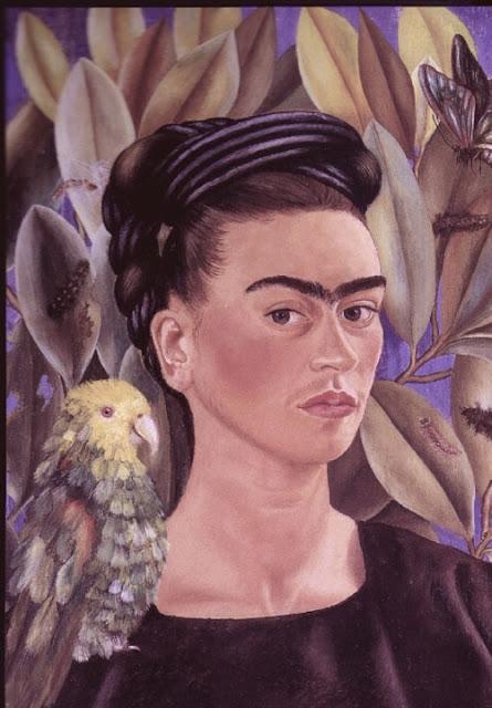 Фрида Кало - Автопортрет с Бонито. 1941