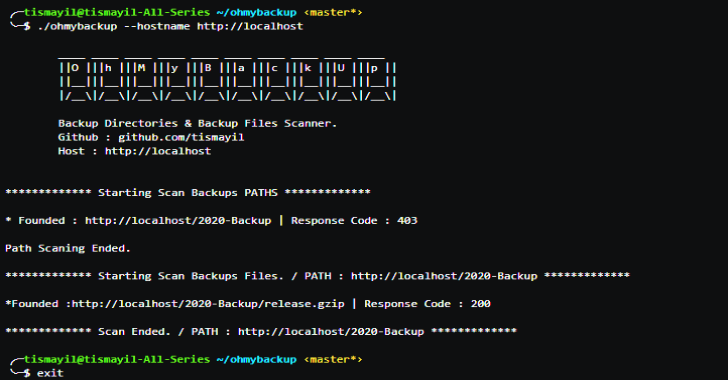 Ohmybackup : Scan Victim Backup Directories & Backup Files