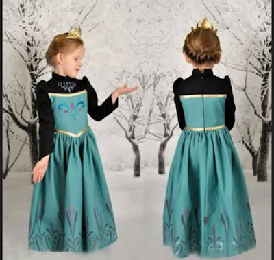 gaun anak perempuan ala princess elsa