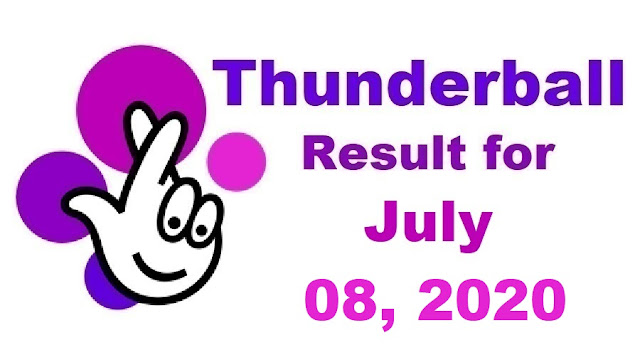 Thunderball Results for Wednesday, July 08, 2020