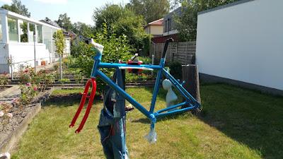 Fahrradrahmen selbst lackiert