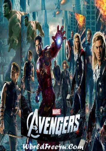 Poster Of The Avengers (2012) In Hindi English Dual Audio 300MB Compressed Small Size Pc Movie Free Download Only At worldfree4u.com