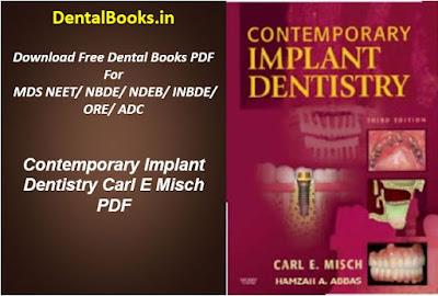 Contemporary Implant Dentistry Carl E Misch PDF