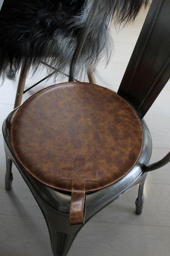 annelies design, design, webbutik, webbutiker, stolsdyna, stolsdynor, läder, cognac,