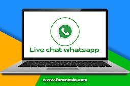 Cara membuat live chat whatsapp melayang pada blog