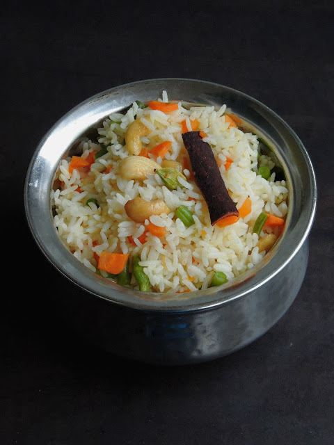 Vegan Assamese Vegetable Pulao
