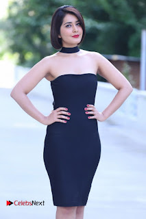 Actress Raashi Khanna Latest Pictures in Black Short Dress  0002.JPG