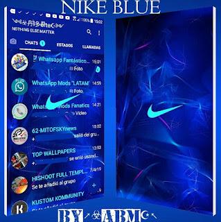 Nike Blue Theme For YOWhatsApp & Fouad WhatsApp By ALBERTO