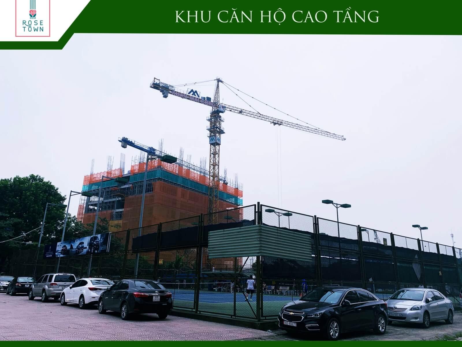 Tiến độ xây dựng chung cư Rose Town tháng 9/2019