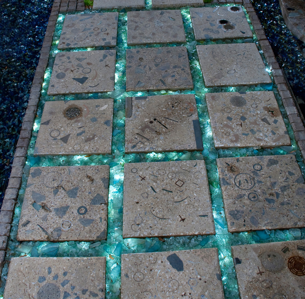 Reclaimed Concrete Blocks: Bruce Taylor Sculpture: Click On Title Links Below Or