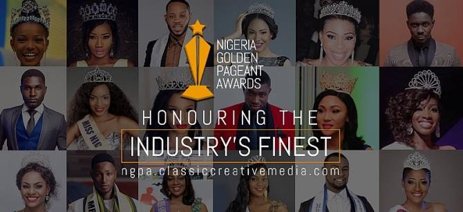 Nigeria Golden Pageant Awards, the first of its kind across Africa is a proposed annual awards event organized by Classic Creative Media to bring the key players in the industry to meet and Network, as well as to recognize, reward and celebrate outstanding persons as well as brands in the Pageant/fashion industry, who have distinguish themselves by adding great value to position the Nigerian pageant and fashion industry; Individuals or brands whose works have impacted lives in their community or nation and help to add value to the nation's economy.  Also to act as a vehicle in supporting, celebrating, promoting, and uplifting the achievements and advancements, The Nigeria Golden Pageant Awards will also act as a watch-dog by ensuring that pageant organizers or brands maintain standard industry practice.
