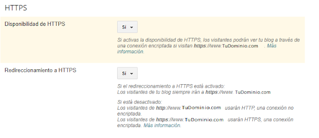 HTTPS con SSL en Blogger