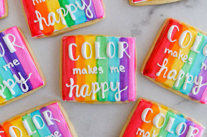 How to Make Watercolor Cookies