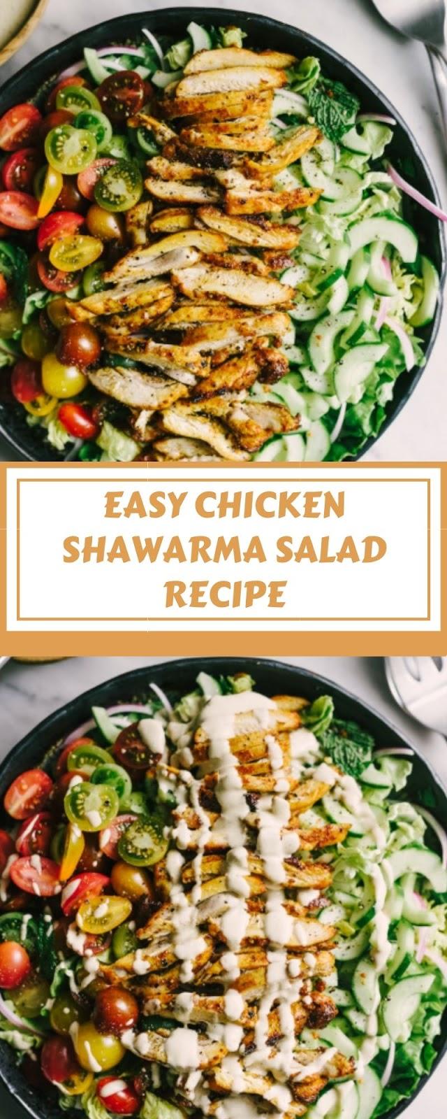 EASY CHICKEN SHAWARMA SALAD RECIPE