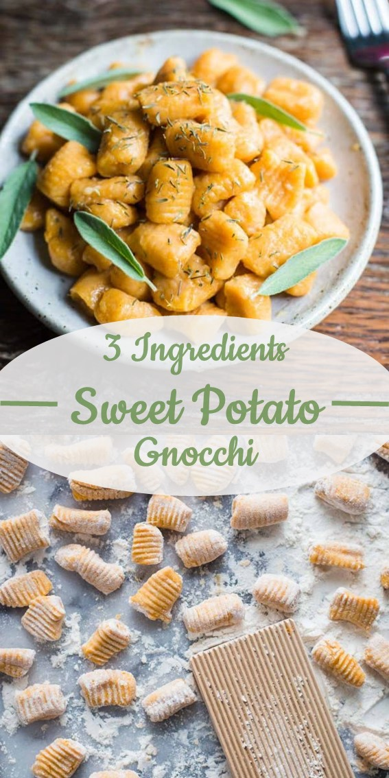 3 ingredient sweet potato gnocchi#Sweet #Potato # Gnocchi #Vegan #Italian #GlutenFree #Snacks