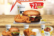 Carls Jr Promo Star Deal Rp.27.273 Free Refil