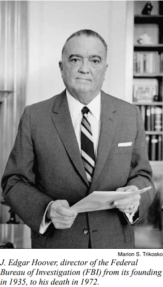FBI J. Edgar Hoover imperialism corruption COINTELPRO police state dirty tricks