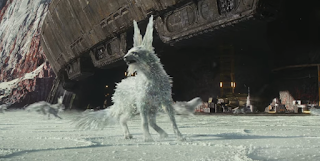 star wars last jedi white fox creature
