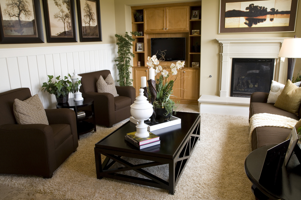 How To Mix A Black Tan And Brown Living Room