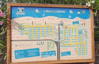 Plano del Camping Kikopark de Oliva.