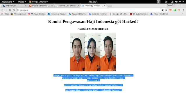 website komisi pengawasan haji berhasil di hack defacer