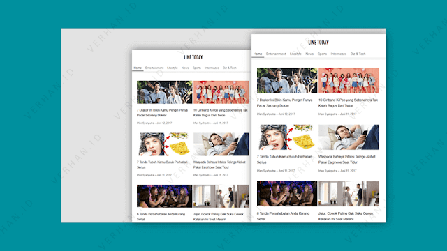 template blogger line today