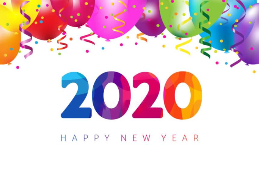 Happy New Year 2020 HD Wallpaper  New Yearu0027s Eve 2020