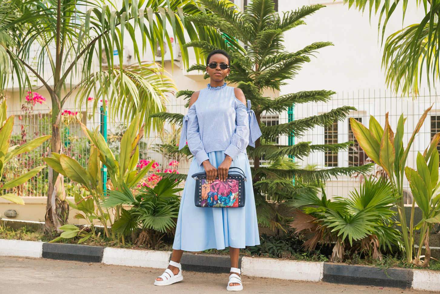 How to style a Cold Shoulder Ruffle Top by Oroma Roxella Rukevwe || www.orrblog.net
