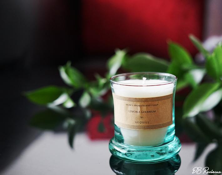 AEQUILL Lemon & Rose Geranium Candle