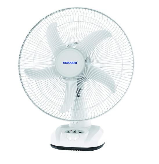 Sonashi 16-Inch Rechargeable Battery Table Fan (SONASHI-SRF716,White)