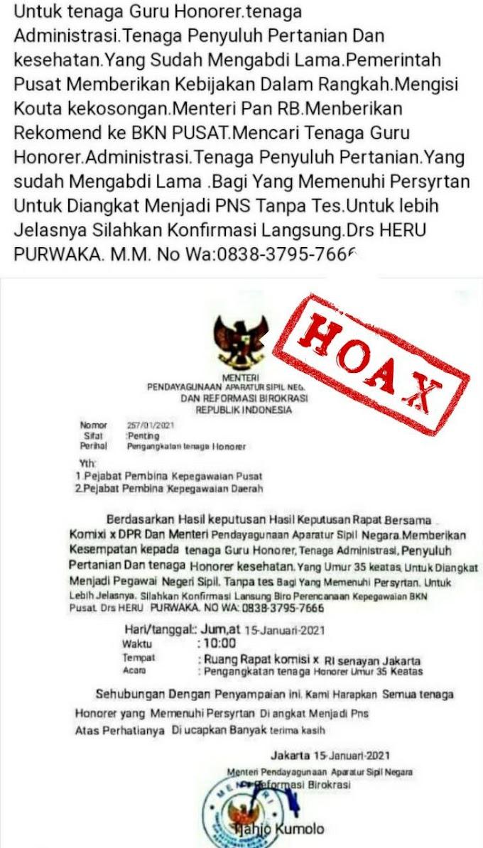 Hati-hati Surat Palsu Mengatasnamakan Menteri PANRB Kembali Beredar