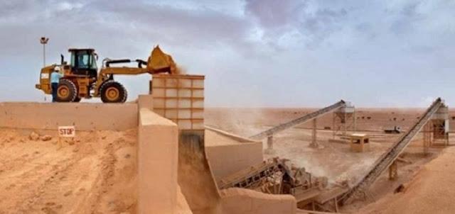 Embouteillage au quai de phosphate de El Aaiun occupé