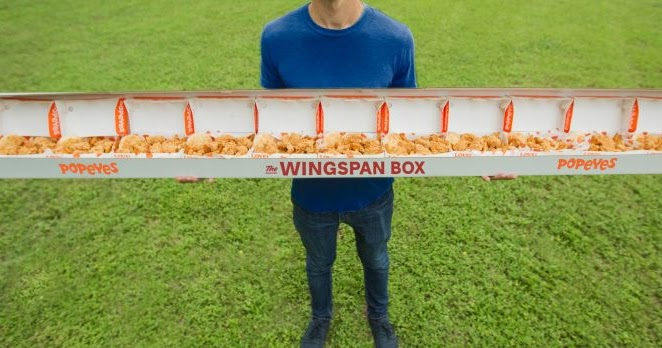 Popeyes 82 Inch Quot Wingspan Box Quot Is Coming To New Orleans To