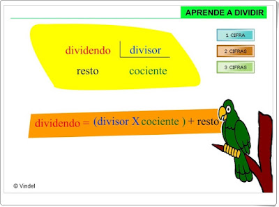 """Aprende a dividir"" (Aplicación interactiva de Matemáticas de Primaria)"