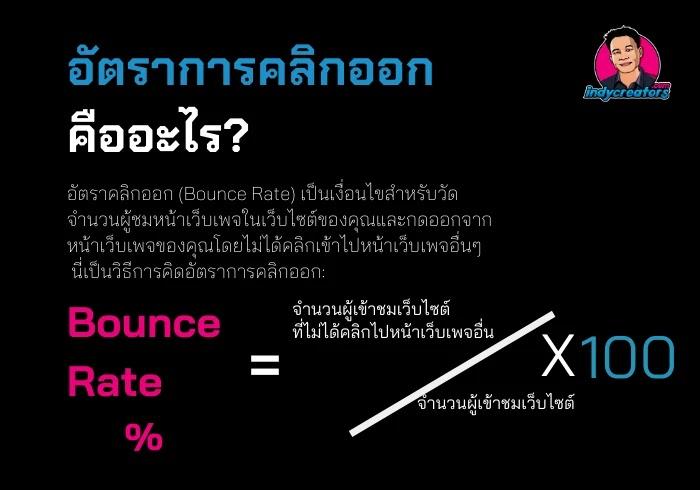 อัตราการคลิกออกจากหน้าเพจ - bounce rate