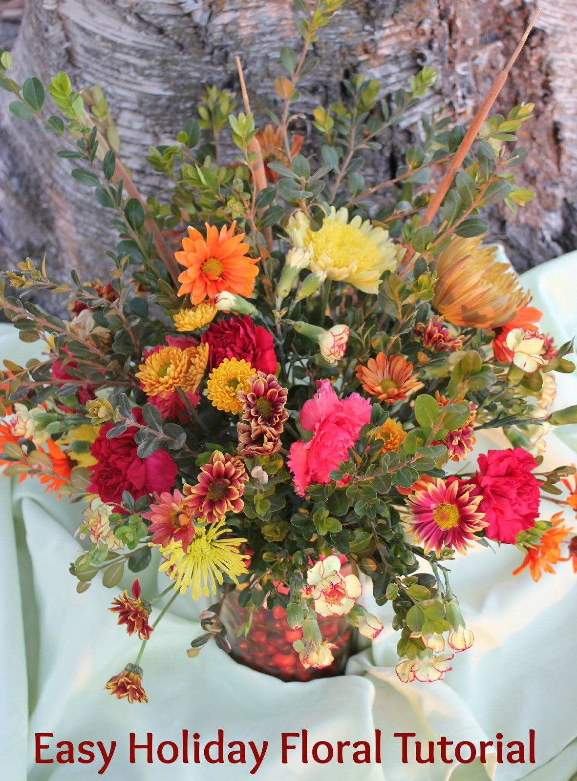 Instructions for a Beautiful Floral Centerpiece for the Holidays ...
