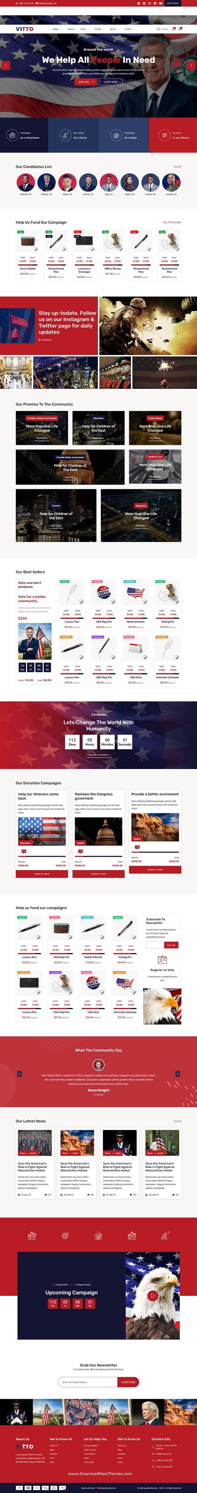 Political Campaign Website Template