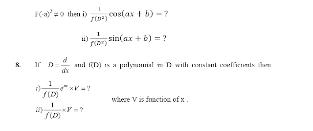 Questions for Differential Equation of first order & First Degree