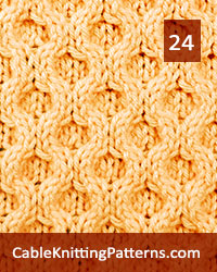 Honeycomb Cable Knitting 24. A Perfect pattern for those who are new to cables.