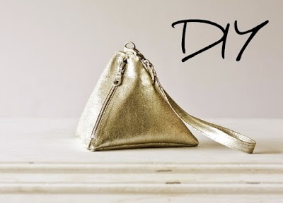 Cómo hacer un bolso piramidal con cuero metálico